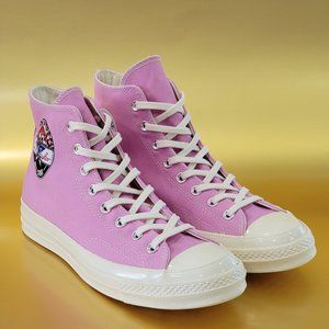 Converse Chuck 70 Hi Logo Play Peony Pink Sneakers